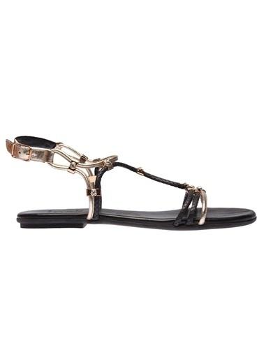 İnci Sandalet Siyah